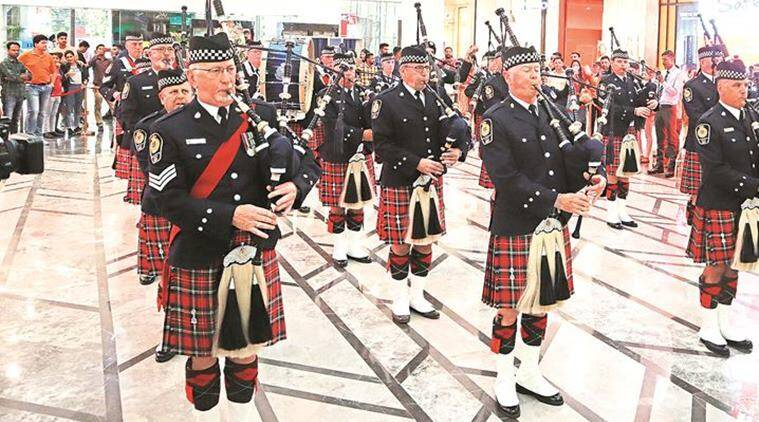 Chandigarh: Vancouver's official band draws cheer at Elante Mall