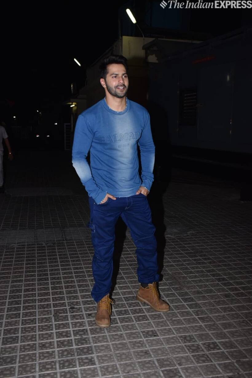 varun dhawan at kalank screening