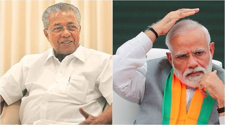 Piunarayi vijayan, pm modi, sabarimala, lor ayyappa, ayyappa devotees, lok sabha election, model code of conduct, election news, lok sabha elections, lok sabha polls, lok sabha polls 2019, indian express
