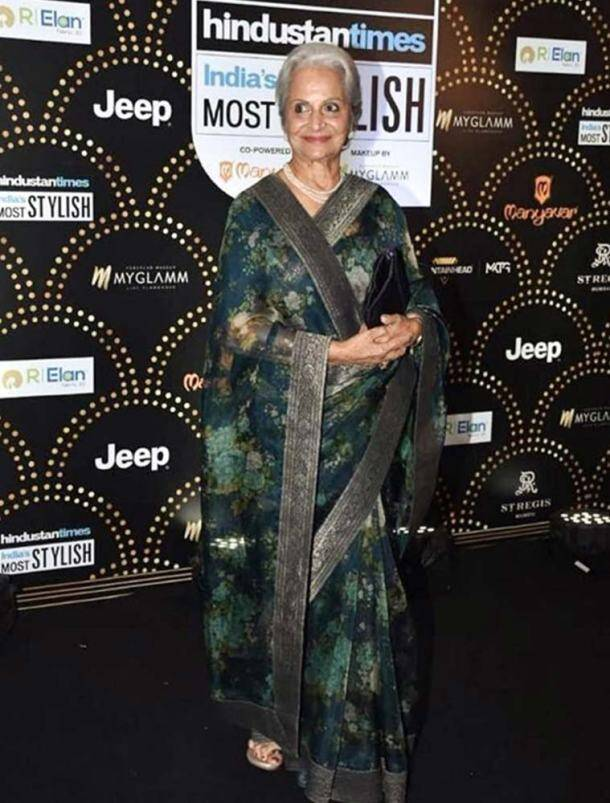 alia bhatt, sonakshi sinha, Waheeda Rehman, shilpa shetty, madhuri dixit, ethnic look, ethnic fashion, designer, Sabyasachi Mukherjee, celebrity fashion, celeb fashion, indian express, indian express news