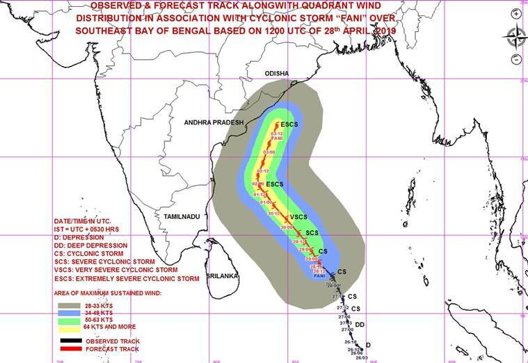 Weather forecast today, Cyclone Fani highlights: Cyclonic