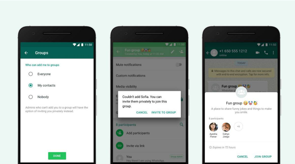 WhatsApp invite system update: Now you can choose which groups you