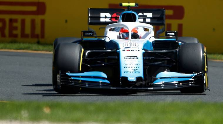 Williams' Robert Kubica in action during Australian grand prix practice