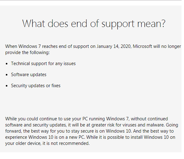 Microsoft, Microsoft Windows 7, Windows 7 end of support, Windows 7 support, Windows 7 end of line, Windows 7 end of support date, Microsoft Windows 10