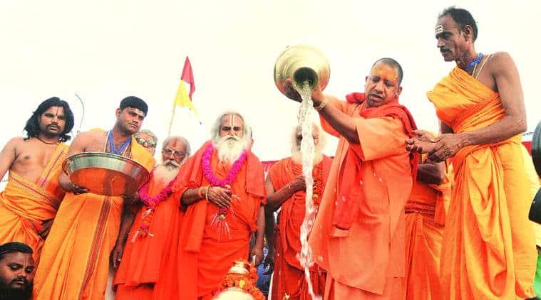 Back to campaigning after EC ban, Yogi calls SP candidate 'Babur ki aulad'