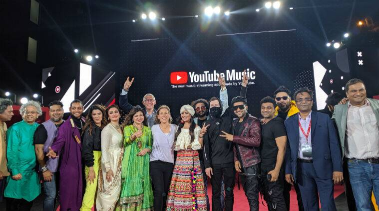 youtube, youtube music, youtube music service, youtube music celebration, youtube music launch celebration, youtube music artists, youtube music singers, youtube music launch party, youtube music 3 million downloads in india, youtube music india, youtube music india singers, badshah, alka yagnik, javed akhtar, jonita gandhi, alan walker