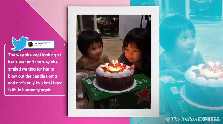 little girl, 2 year old, happy go lucky, elder sister, good nature, sensible, birthday, candles