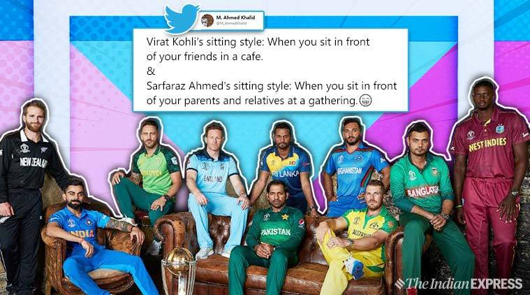 icc world cup, cricket world cup, 2019 world cup, cricket world cup captains photo, cricket memes, icc WC captian photo memes, funny memes, cricket news, sports news, indian express