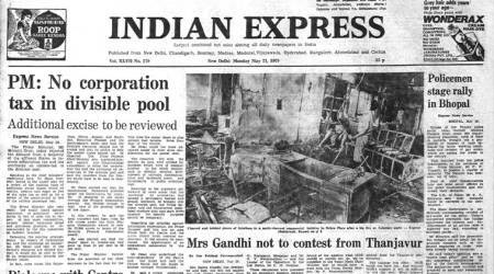 Morarji desai, jyoti basu, forty years ago, Indira Gandhi, Thanjavur constituency, indian express