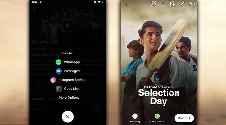 Netflix Android app will let users share movies, show titles directly to Instagram Stories