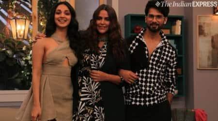 Neha Dhupia, Shahid Kapoor and Kiara Advani in BFFs with Vogue season 3