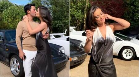 Amy Jackson and George Panayiotou engagement photos