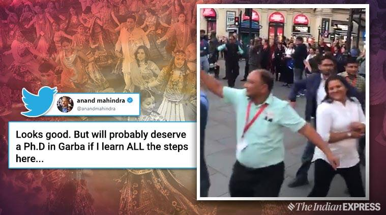 Anand Mahindra's funny tweet about learning Garba has people in splits!