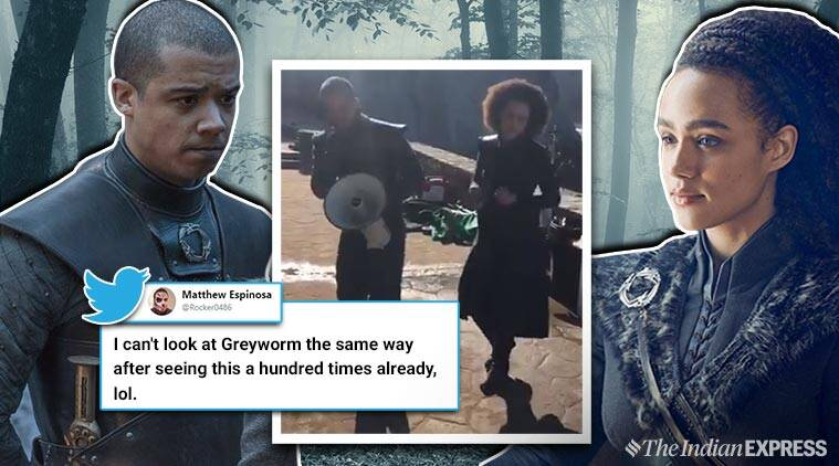 game of thrones, got, grey worm, Grey Worm and Missandei, GOT season 8, GOT finale, GOT memes, GOT viral video, Game of Thrones story, indian express, indian express news