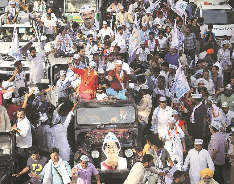 lok sabha election results, lok sabha election 2019 results, lok sabha elections bjp, BJP, AAP, Congress, arvind kejriwal, manoj tiwari, sheila dikshit,