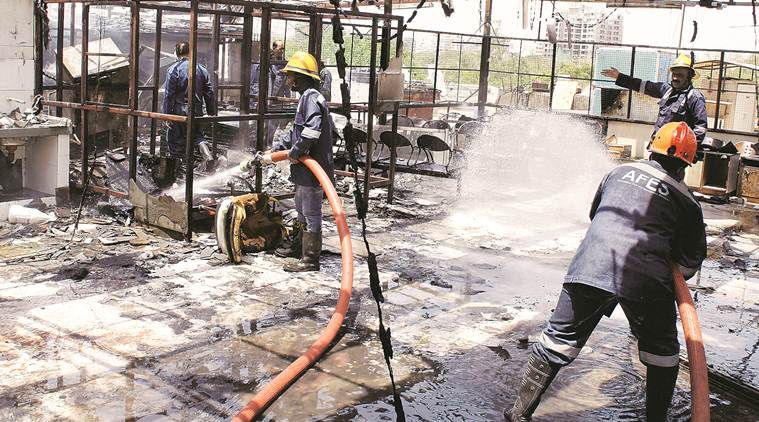 Surat fire, Noida Atta market, Sector 18 atta market, coaching centres safety, fire safety in coaching centres, Noida coaching centres, Delhi news, Indian express