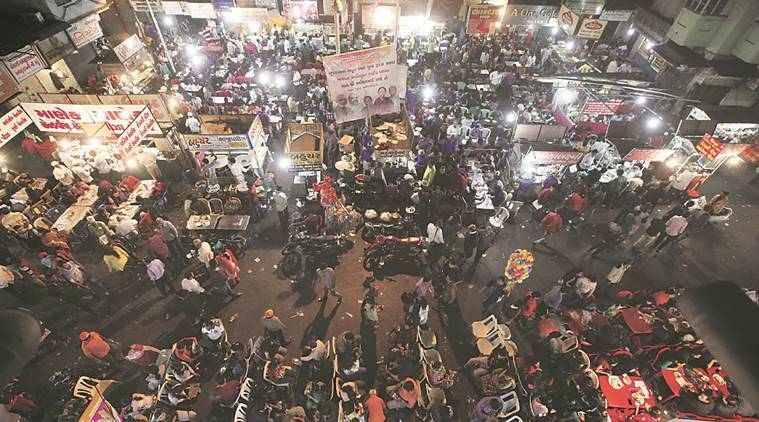 Gujarat shops, Gujarat 24 hour shops, Gujarat shops to function 24 hours, 24*7 shops in Gujarat, Nitin Patel, Gujarat government, Gujarat jobs, Gujarat shops working hours Indian express