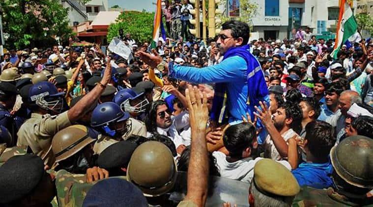 alwar gang rape, alwar gang rape protest, protest against alwar gange rape, gang rape, rape, demanding justice, rape victim justice, indian express
