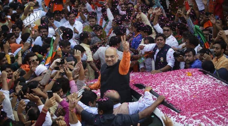 amit shah, amit shah BJP, amit shah gandhinagar, amit shah lok sabha elections, election result, election results, BJP Uttar pardesh, BJP Bihar, Narendra Modi, Narendra Modi varanasi, Narendra Modi BJP, election results 2019,