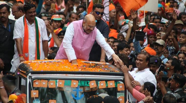 On Bengal streets, Amit Shah's show of strength, with floats and Ram