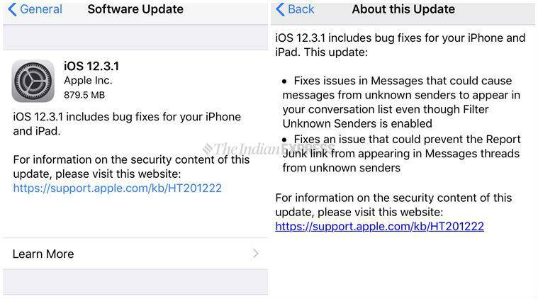 Apple iOS 12.3.1 released with fixes for VoLTE bug, issue in Messages