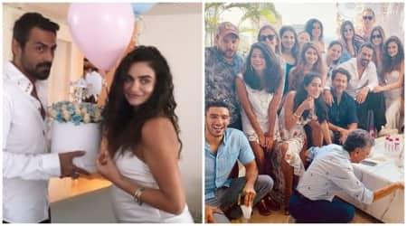 Arjun Rampal gf Gabriella Demetriades baby shower inside photos