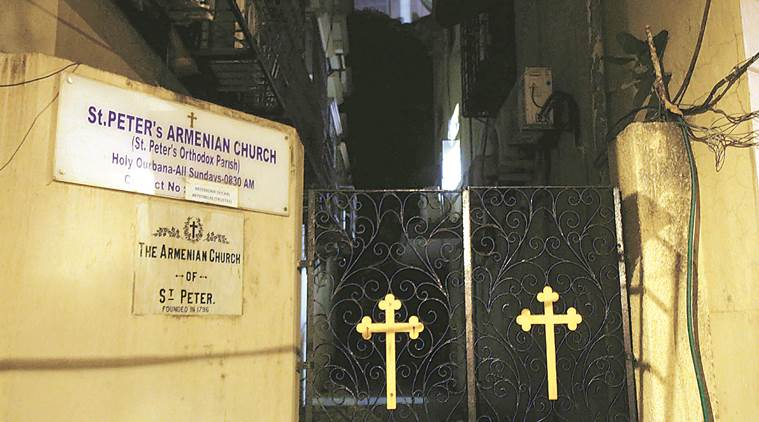 armenian church, armenian church mumbai, st peter's church, st peter's church mumbai, kala ghoda, kala ghoda mumbai, south mumbai, armenians, mumbai, indian express news