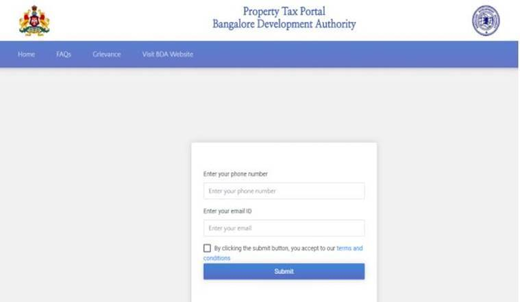 Bangalore-BDA-property-tax-online-website-payment
