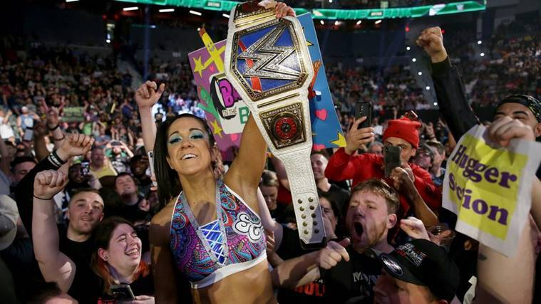 Bayley at the WWE Money In The Bank