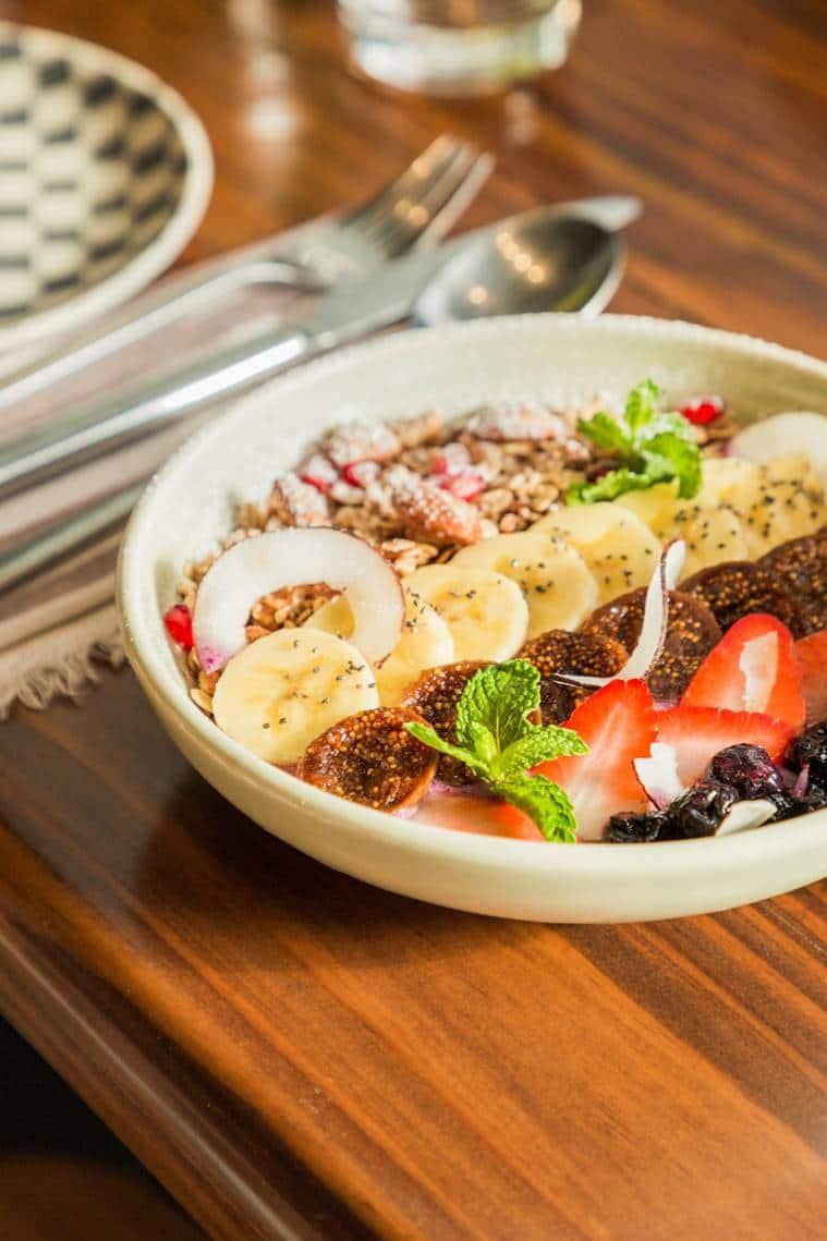 granola, granola bowl, food, food recipe, indian express