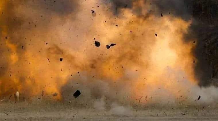 bomb, bomb explosion, bomb explosion in ahmednagar, maharahstra bomb explosion, police, scrap market, firing range, bomb blast, victims, india news, indian express news