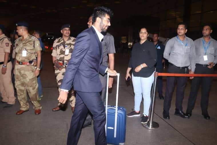 Jasprit Bumrah at the Mumbai Airport
