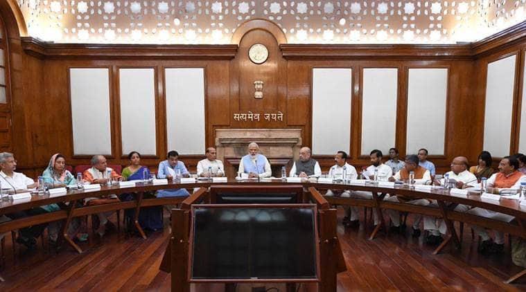 Union cabinet, modi union cabinet meet, modi first cabinet meet, narendra modi, pm modi, pm modi govt, amit shah, india news