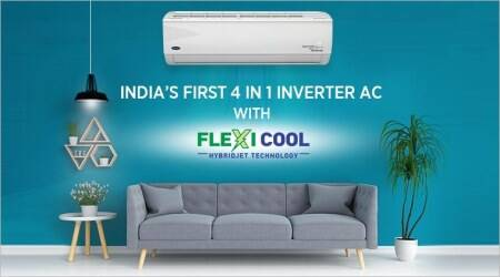 Carrier has introduced India's first 4 IN 1 Inverter AC with Flexi Cool Hybridjet technology