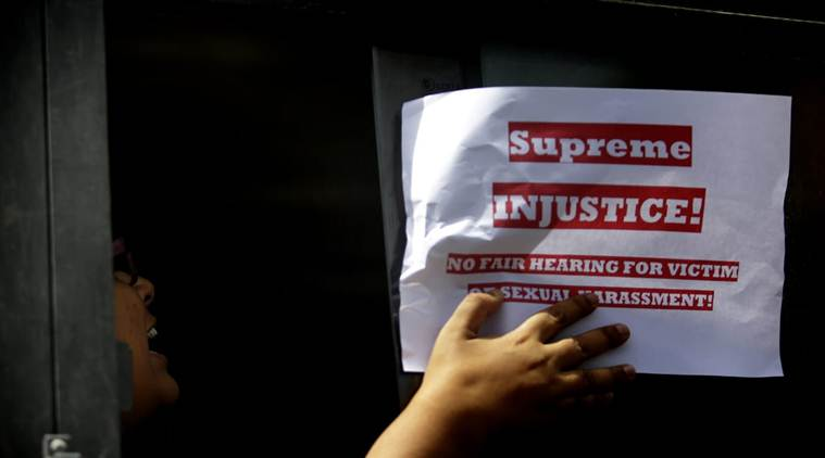 Clean chit to CJI in sexual harassment case: Activists protest outside Supreme Court, detained