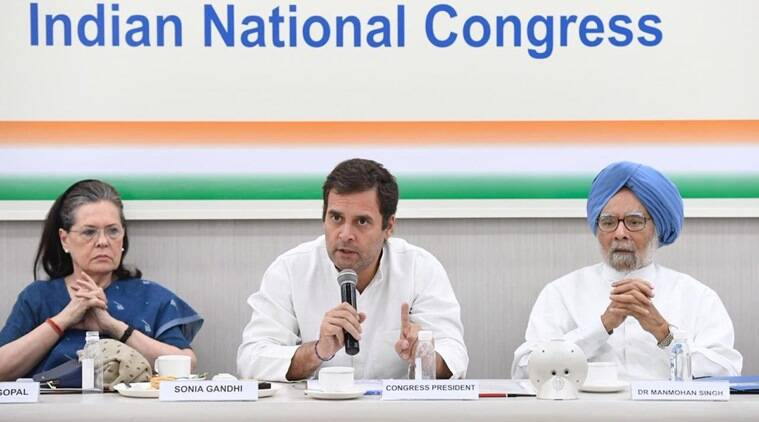 rahul gandhi, rahul gandhi resignation, congress party cwc meeting, Election LIVE, election results, lok sabha news, CWC meeting, NDA government formation, Narendra Modi, NDA meeting, BJP government, general election, indian express