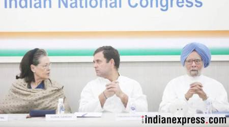CWC meeting photos, Rahul Gandhi resignation photos, rahul gandhi, Congress, Congress leaders meeting, CWC meeting, congress party cwc meeting, lok sabha election results, Congress defeat, indian express