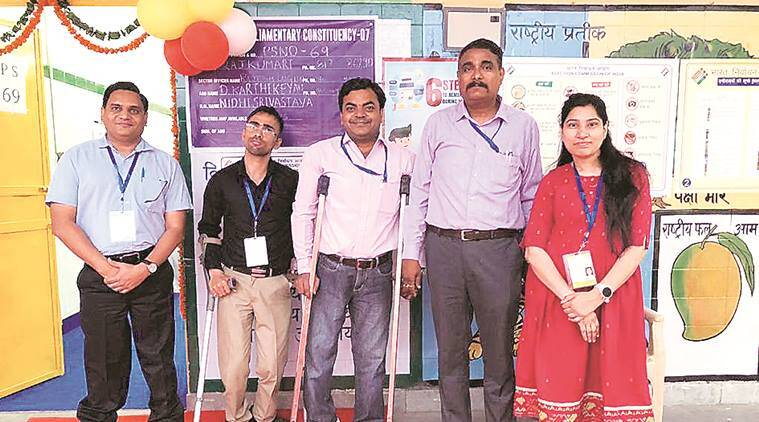 Delhi: In A First, Differently Abled Manage Polling Booth