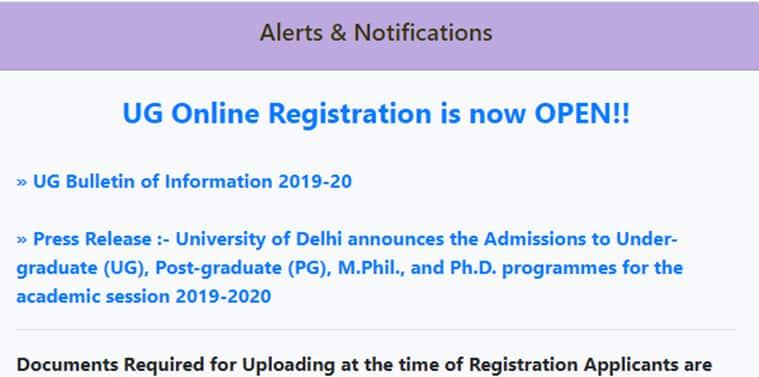 Du Ug Application Form Last Date, Delhi University Registration Process Begins, Du Ug Application Form Last Date