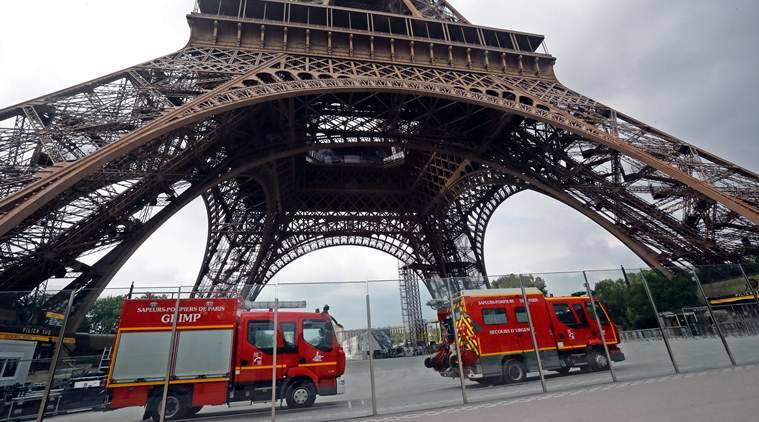 Eiffel Tower closed down after intruder tries to scale the famous landmark