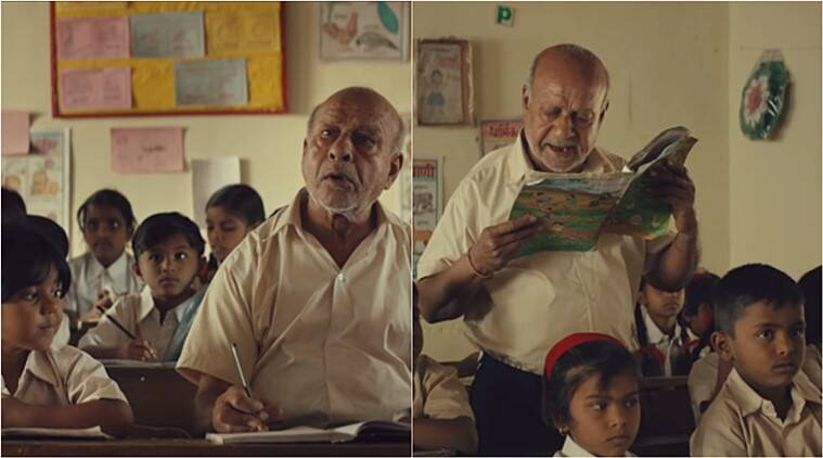 p&G, P&G shiksha, elderly man attends school, age no bar education, education for old, story of bittu, viral videos, heartwarming videos, indian express
