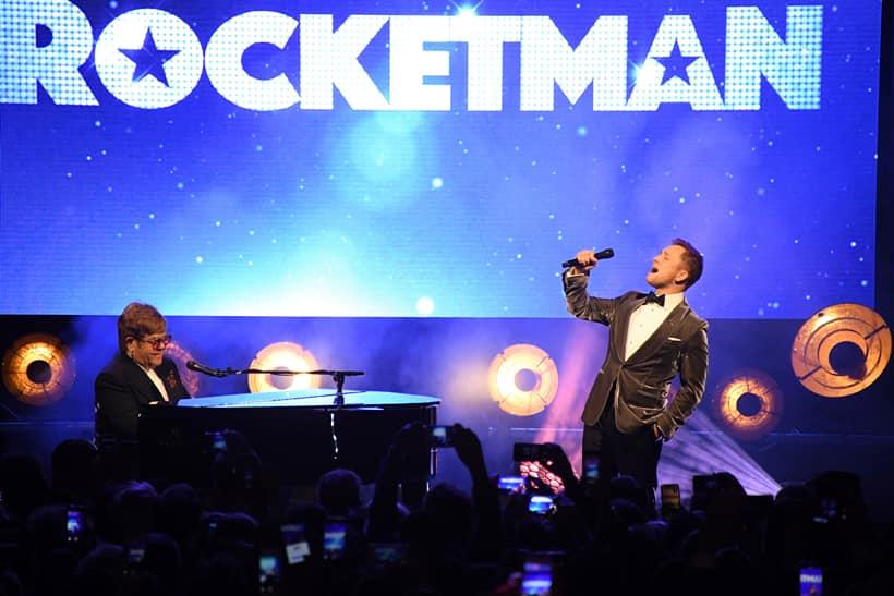 Elton John Taron Egerton Cannes Rocketman performance