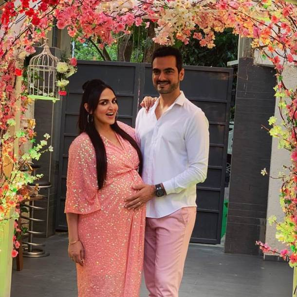 Esha Deol, Esha Deol baby shower, Esha Deol baby shower photos, Esha Deol 2nd baby, Bharat Takhtani, enetertainment news, indian express