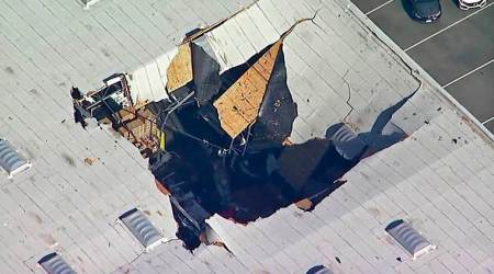 F-16 crash: Pilot ejects to safety as fighter jet crashes into California building