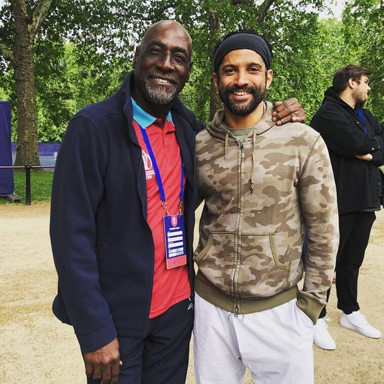 Viv Richards with Farhan Akhtar ICC World Cup 2019 opening ceremony