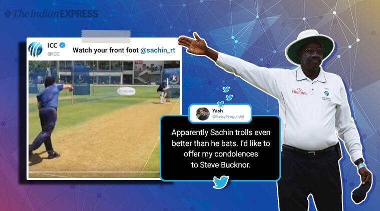 sachin tendulkar, ICC, Steve Bucknor, tendulkar Steve Bucknor controversy, Sachin ICC trolling, sachin tendulkar witty tweets, indian express, sports news, funny news, viral news