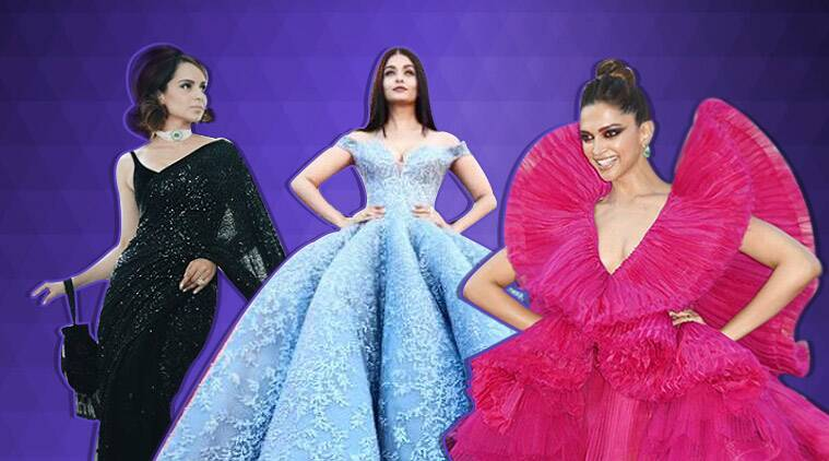 cannes, cannes 2019, aishwarya bachchan, deepika padukone, sonam kapoor, kangana ranaut, cannes memorable looks, cannes indians, indians at cannes, indian express, indian express news