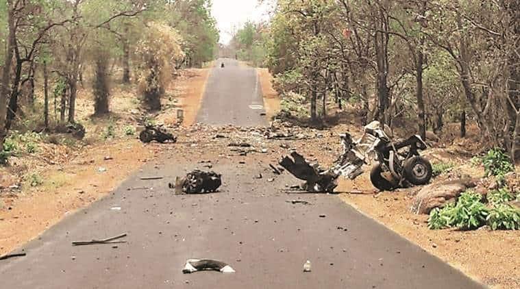 gadchiroli, gadchiroli blast, gadchiroli maoist attack, maoist attack, maharashtra, maharashtra maoist attack, gadhciroli ied blast, police, maharashtra police, lok sabha elections, devendra fadnavis, indian express news