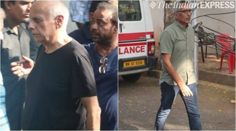 mahesh bhatt and prakash jha at veeru devgan house