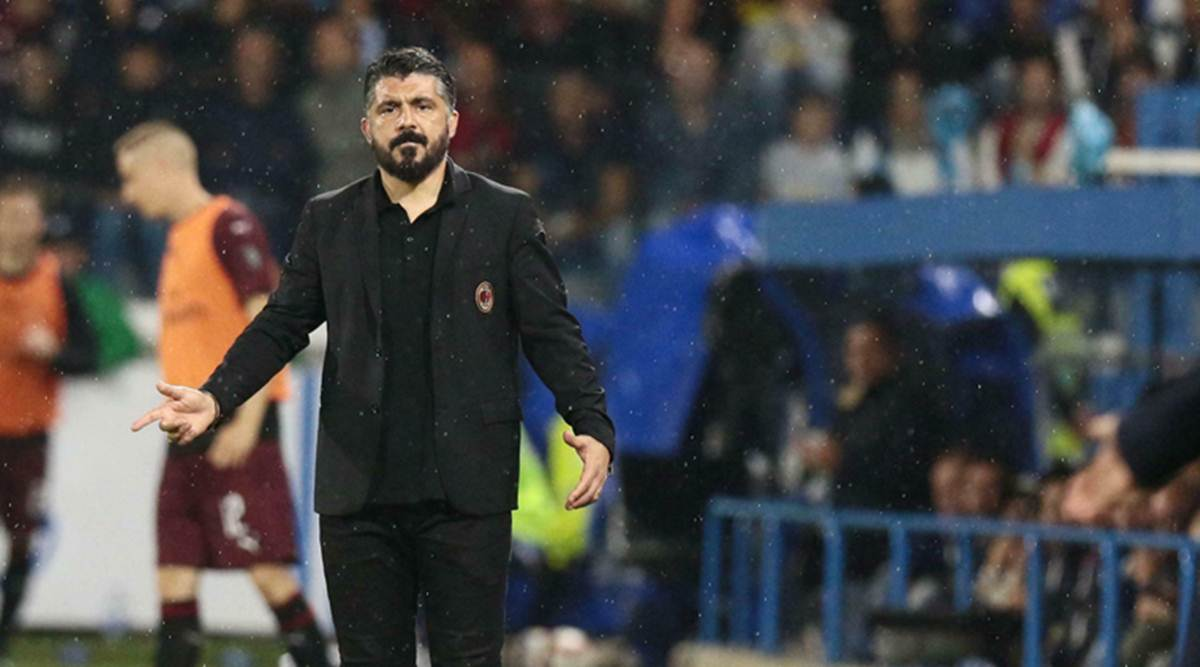 Ac Milan Confirms That Coach Gennaro Gattuso Is Leaving The Club Sports News The Indian Express